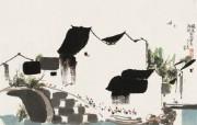 吴冠中江南水乡绘画艺术 壁纸 壁纸4 吴冠中江南水乡绘画艺 绘画壁纸