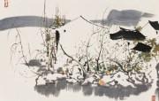 吴冠中江南水乡绘画艺术 壁纸 壁纸5 吴冠中江南水乡绘画艺 绘画壁纸