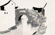 吴冠中江南水乡绘画艺术 壁纸 壁纸6 吴冠中江南水乡绘画艺 绘画壁纸