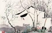 吴冠中江南水乡绘画艺术 壁纸 壁纸8 吴冠中江南水乡绘画艺 绘画壁纸
