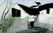 吴冠中江南水乡绘画艺术 壁纸 壁纸10 吴冠中江南水乡绘画艺 绘画壁纸