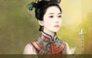 觉英格格 清朝美女手绘壁纸 言情小说封面手绘古代美女壁纸 绘画壁纸