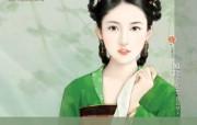 言情小说古代美女手绘壁纸 言情小说封面手绘古代美女壁纸 绘画壁纸