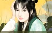 镶金丫鬟 古装美女手绘壁纸 言情小说封面手绘古代美女壁纸 绘画壁纸