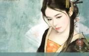 公主不出嫁 古代美女绘画壁纸 言情小说封面手绘古代美女壁纸 绘画壁纸