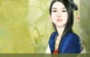 中国古代美女绘画壁纸 言情小说封面手绘古代美女壁纸 绘画壁纸