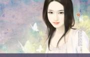 言情小说手绘美女壁纸 第十六辑 唯美手绘 美女手绘壁纸 言情小说手绘美女壁纸十六 绘画壁纸
