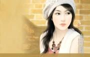 言情小说手绘美女壁纸 第十六辑 温柔美女 爱情小说美女手绘 言情小说手绘美女壁纸十六 绘画壁纸
