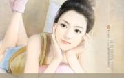 言情小说手绘美女壁纸 第十六辑 可爱美女 言情小说美女插画 言情小说手绘美女壁纸十六 绘画壁纸