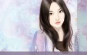 言情小说手绘美女壁纸 第十六辑 手绘美女 言情小说美女插画 言情小说手绘美女壁纸十六 绘画壁纸