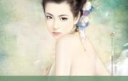 言情小说手绘美女壁纸 第十六辑 梦幻美女 爱情小说美女插画 言情小说手绘美女壁纸十六 绘画壁纸