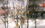 巴黎之秋 恬静的欧陆风光山水画 异国风光刘懋善山水画壁纸 绘画壁纸