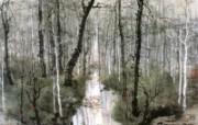 小溪 法国 异域情调山水画 异国风光刘懋善山水画壁纸 绘画壁纸