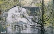 波士顿郊外风光 刘懋善山水画壁纸 异国风光刘懋善山水画壁纸 绘画壁纸