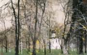 白教堂 俄罗斯 异国风光山水画 异国风光刘懋善山水画壁纸 绘画壁纸