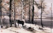 俄罗斯的冬天 刘懋善山水画 异国风光刘懋善山水画壁纸 绘画壁纸