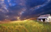 早晨的阳光神奇油画壁纸 壁纸1 早晨的阳光神奇油画壁 绘画壁纸