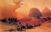 重现壮美的古文明 David Roberts 古埃及绘画壁纸集续 沙漠中的风暴 Storm In The Desert 重现壮美的古文明David Roberts 古埃及绘画壁纸集续 绘画壁纸