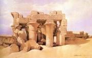 重现壮美的古文明 David Roberts 古埃及绘画壁纸集续 托勒密神庙遗迹 Ruined Ptolemic Temple 重现壮美的古文明David Roberts 古埃及绘画壁纸集续 绘画壁纸