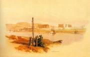 重现壮美的古文明 David Roberts 古埃及绘画壁纸集续 卢克索遗迹 Ruins Of Luxor From South West 重现壮美的古文明David Roberts 古埃及绘画壁纸集续 绘画壁纸
