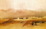 重现壮美的古文明 David Roberts 古埃及绘画壁纸集续 门侬神殿遗迹 Ruins Of Memnonio 重现壮美的古文明David Roberts 古埃及绘画壁纸集续 绘画壁纸