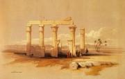 重现壮美的古文明 David Roberts 古埃及绘画壁纸集续 荒废的Medamut神庙 Siout Ruined Temple Of Medamut 重现壮美的古文明David Roberts 古埃及绘画壁纸集续 绘画壁纸