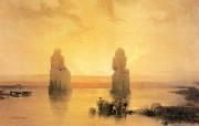 重现壮美的古文明 David Roberts 古埃及绘画壁纸集续 日落中的古纳雕像 Statues Of Gurna At Sunset 重现壮美的古文明David Roberts 古埃及绘画壁纸集续 绘画壁纸
