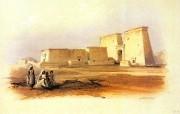 重现壮美的古文明 David Roberts 古埃及绘画壁纸集续 努比亚El Dakkar神庙 Temple Of El Dakkar In Nubia 重现壮美的古文明David Roberts 古埃及绘画壁纸集续 绘画壁纸
