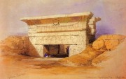 重现壮美的古文明 David Roberts 古埃及绘画壁纸集续 丹达腊 哈索尔神庙 Temple Of Hathor Dendera 重现壮美的古文明David Roberts 古埃及绘画壁纸集续 绘画壁纸