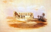 重现壮美的古文明 David Roberts 古埃及绘画壁纸集续 伊西丝神庙 Temple Of Isis Serapis At Maharraka 重现壮美的古文明David Roberts 古埃及绘画壁纸集续 绘画壁纸