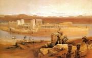 重现壮美的古文明 David Roberts 古埃及绘画壁纸集续 菲莱神庙 Temple Of Philae 重现壮美的古文明David Roberts 古埃及绘画壁纸集续 绘画壁纸