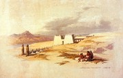 重现壮美的古文明 David Roberts 古埃及绘画壁纸集续 拉美西斯神庙 Temple Of RamesesII At Wadi Sabua 重现壮美的古文明David Roberts 古埃及绘画壁纸集续 绘画壁纸
