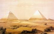 重现壮美的古文明 David Roberts 古埃及绘画壁纸集续 View Of The Pyramids 金字塔远景 重现壮美的古文明David Roberts 古埃及绘画壁纸集续 绘画壁纸
