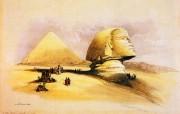 重现壮美的古文明 David Roberts 古埃及绘画壁纸集续 吉萨狮身人面像 The Great Sphinx Of Gizeh 重现壮美的古文明David Roberts 古埃及绘画壁纸集续 绘画壁纸