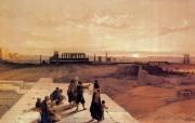 重现壮美的古文明 David Roberts 古埃及绘画壁纸集续 古埃及卡纳克 View Of Karnak 重现壮美的古文明David Roberts 古埃及绘画壁纸集续 绘画壁纸