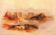重现壮美的古文明 David Roberts 古埃及绘画壁纸集续 菲莱岛尼罗河一角 View Of Philae From Nile 重现壮美的古文明David Roberts 古埃及绘画壁纸集续 绘画壁纸