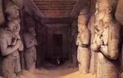 追寻古老神秘的文明 David Roberts 古埃及绘画壁纸集 阿布辛贝神殿入口 Entrance To Temple Of Abu Simbel 追寻古老神秘的文明David Roberts 古埃及绘画壁纸集 绘画壁纸