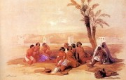 追寻古老神秘的文明 David Roberts 古埃及绘画壁纸集 阿比西尼亚奴隶 Abyssinian Slaves At Korti 追寻古老神秘的文明David Roberts 古埃及绘画壁纸集 绘画壁纸