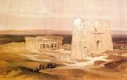 追寻古老神秘的文明 David Roberts 古埃及绘画壁纸集 Apolinopolis神庙 Apolinopolis Temple Of Edfu 追寻古老神秘的文明David Roberts 古埃及绘画壁纸集 绘画壁纸