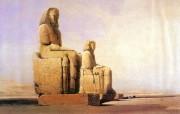 追寻古老神秘的文明 David Roberts 古埃及绘画壁纸集 AmenofisIII巨大雕像 Colossal Statues Of AmenofisIII 追寻古老神秘的文明David Roberts 古埃及绘画壁纸集 绘画壁纸