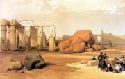 追寻古老神秘的文明 David Roberts 古埃及绘画壁纸集 底比斯倒塌的巨像 Fallen Colossus Of Thebes 追寻古老神秘的文明David Roberts 古埃及绘画壁纸集 绘画壁纸