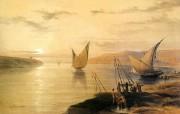 追寻古老神秘的文明 David Roberts 古埃及绘画壁纸集 古埃及风光 Gebel El Silsilis 追寻古老神秘的文明David Roberts 古埃及绘画壁纸集 绘画壁纸