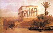 追寻古老神秘的文明 David Roberts 古埃及绘画壁纸集 菲莱岛Hippetral神殿 Hippetral Temple Philae 追寻古老神秘的文明David Roberts 古埃及绘画壁纸集 绘画壁纸