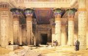 追寻古老神秘的文明 David Roberts 古埃及绘画壁纸集 菲莱岛神庙 Island Temple Philae 追寻古老神秘的文明David Roberts 古埃及绘画壁纸集 绘画壁纸