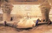 追寻古老神秘的文明 David Roberts 古埃及绘画壁纸集 依芙神庙全景 Panorama Temple Of Edfu 追寻古老神秘的文明David Roberts 古埃及绘画壁纸集 绘画壁纸