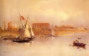 追寻古老神秘的文明 David Roberts 古埃及绘画壁纸集 尼罗河对岸的卢克索神庙 Luxor Seen From The Nile 追寻古老神秘的文明David Roberts 古埃及绘画壁纸集 绘画壁纸