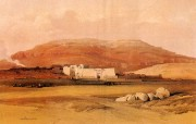 追寻古老神秘的文明 David Roberts 古埃及绘画壁纸集 哈布城 Medinet Abu 追寻古老神秘的文明David Roberts 古埃及绘画壁纸集 绘画壁纸