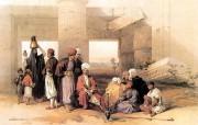 追寻古老神秘的文明 David Roberts 古埃及绘画壁纸集 阿蒙神庙门口的土耳其人 Ottoman Figures At Temple Of Amon 追寻古老神秘的文明David Roberts 古埃及绘画壁纸集 绘画壁纸