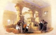 追寻古老神秘的文明 David Roberts 古埃及绘画壁纸集 德尔麦迪那王陵柱廊 Portico Of Deir El Medina 追寻古老神秘的文明David Roberts 古埃及绘画壁纸集 绘画壁纸