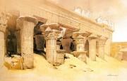 追寻古老神秘的文明 David Roberts 古埃及绘画壁纸集 依芙神殿 Temple Of Edfu 追寻古老神秘的文明David Roberts 古埃及绘画壁纸集 绘画壁纸